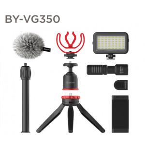 Набор для Влогеров BOYA BY-VG350 с петличными микрофоном BY-MM1+ и LED светом