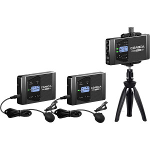 Микрофон COMICA CVM-WS60 COMBO UHF 1-Trigger-2 Flexible Mini Wireless Microphone(Universal for Camera&Smartphone)