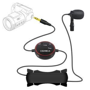 Петличный микрофон COMICA Lavalier Microphone for Camera, Gopro and Smartphone