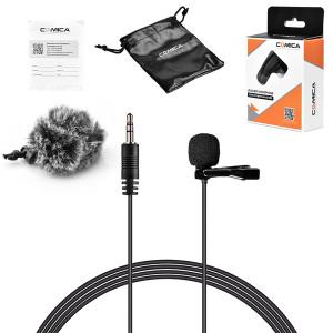 Петличный микрофон COMICA Lavalier Microphone for Camera and GoPro