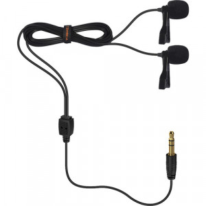 Петличный микрофон COMICA Dual-head Lavalier Microphone CVM-D02 (B2.5m)