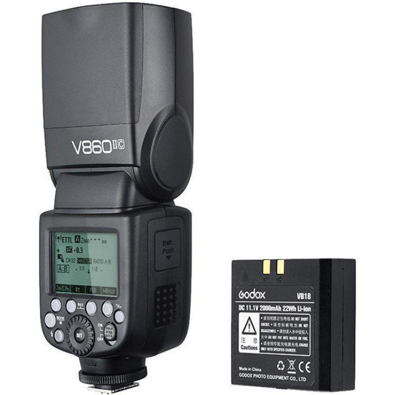 Вспышка Godox V860II-C для Canon (набор)
