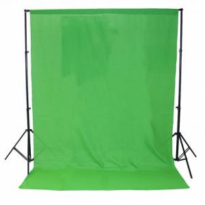 Тканевый однотонный фон 3 x 6 м (зеленый) Chromakey