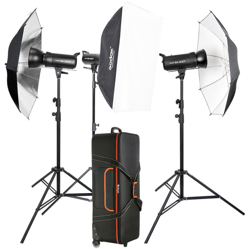 Комплект студийного света Godox SK400II 3-Light Studio Flash Kit
