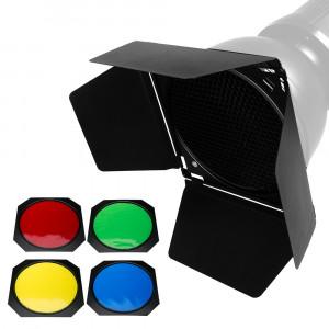 Набор шторки, соты, цветные фильтры Godox BD-04