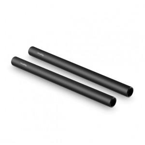 2pcs 15mm Black Aluminum Alloy Rod(M12-25cm) 10inch 1052