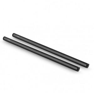 2pcs 15mm Black Aluminum Alloy Rod(M12-40cm) 16inch 1054