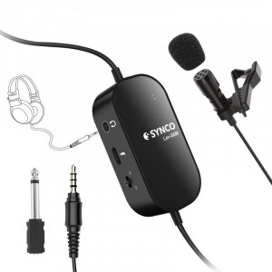 Synco Lav-S6 M Wired Lavalier Microphone (with monitor)