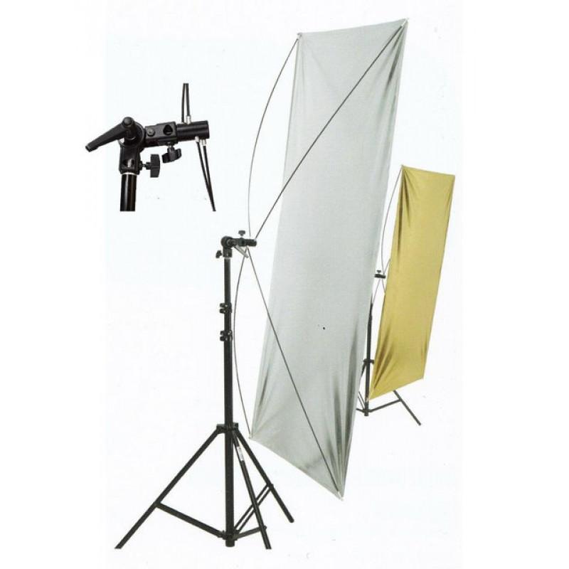 Рефлекторные экраны (золотой/серебряный, серебряно/белый) 60 x 120 см (38062)