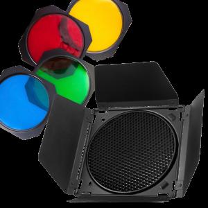 Набор (шторки, соты, цветные фильтры) Mircopro BD-200 для стандартного рефлектора