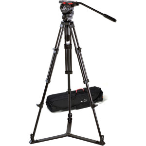 Sachtler 0771 Aluminum Tripod System with FSB 8 Head, ENG 75/2 D Legs & Ground Level Spreader